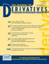 The Journal of Derivatives: 25 (1)