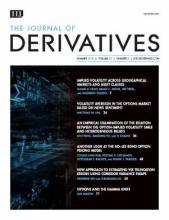 The Journal of Derivatives: 25 (4)