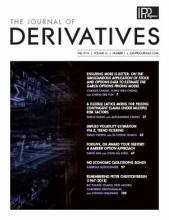 The Journal of Derivatives: 26 (1)