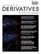 The Journal of Derivatives: 27 (1)