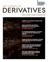 The Journal of Derivatives: 27 (2)