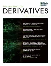 The Journal of Derivatives: 27 (3)