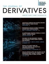 The Journal of Derivatives: 27 (4)