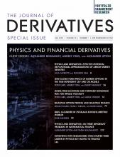 The Journal of Derivatives: 28 (1)