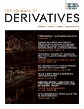 The Journal of Derivatives: 28 (2)