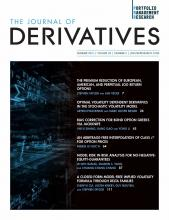 The Journal of Derivatives: 28 (4)