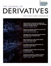 The Journal of Derivatives: 29 (1)